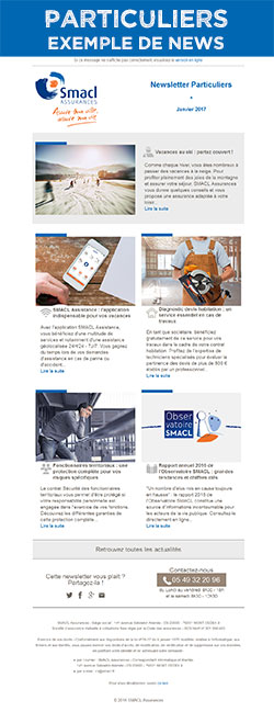 Exemple Newsletter particuliers juin 2016 - SMACL Assurances